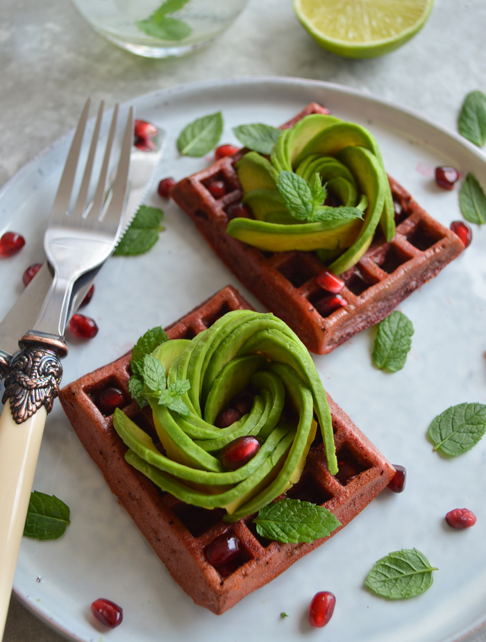 Beetroot waffles #glutenfree #dairyfree #waffles #beetroot via @fit.foodie.nutter