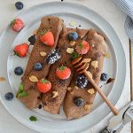CHOCOLATE PROTEIN CREPES (GLUTEN FREE, DAIRY FREE, CANDIDA FRIENDLY)