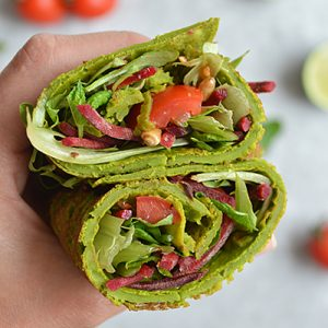SPINACH WRAPS (GLUTEN FREE, VEGAN, CANDIDA FRIENDLY)