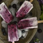 5 INGREDIENT BLUEBERRY & COCONUT YOGHURT POPSICLES (DAIRY FREE, VEGAN, CANDIDA FRIENDLY)