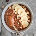 NUTELLA PORRIDGE. THE HEALTHY WAY (GLUTEN FREE, DAIRY FREE, VEGAN)