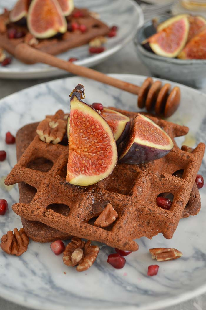 Bounty-licious chocolate protein waffles