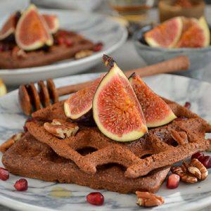 BOUNTY-LICIOUS CHOCOLATE PROTEIN WAFFLES (GLUTEN FREE, DAIRY FREE, VEGAN)