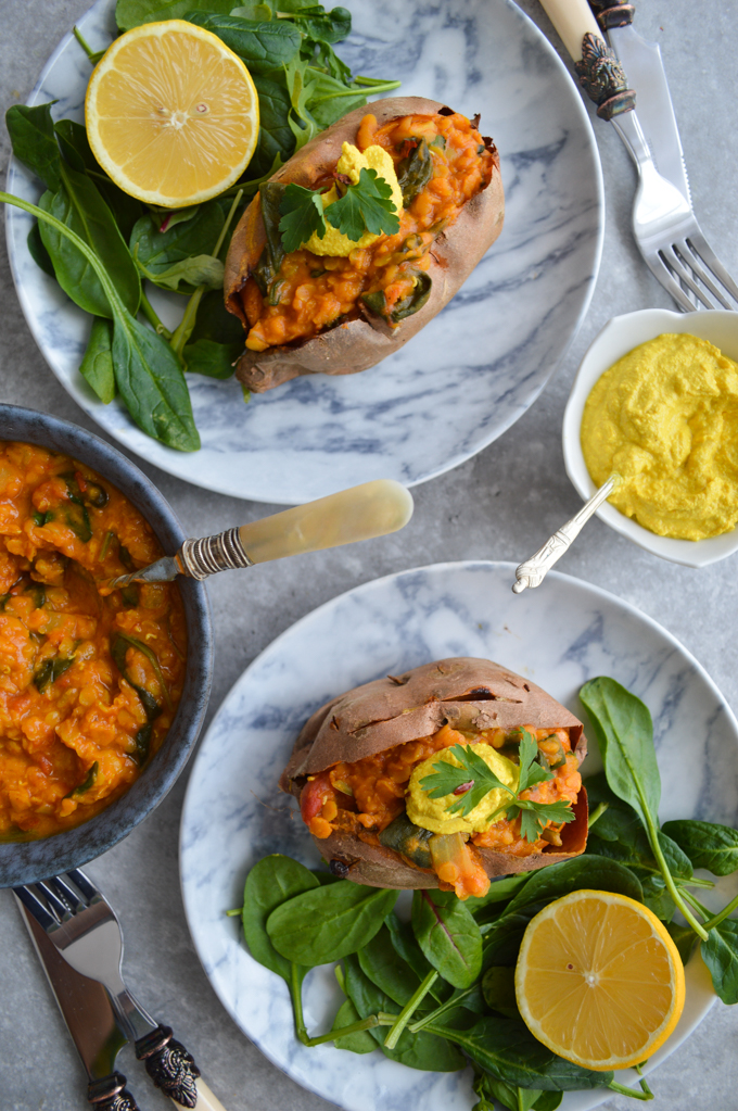 Red lentil curry (gluten free, dairy free, vegan)