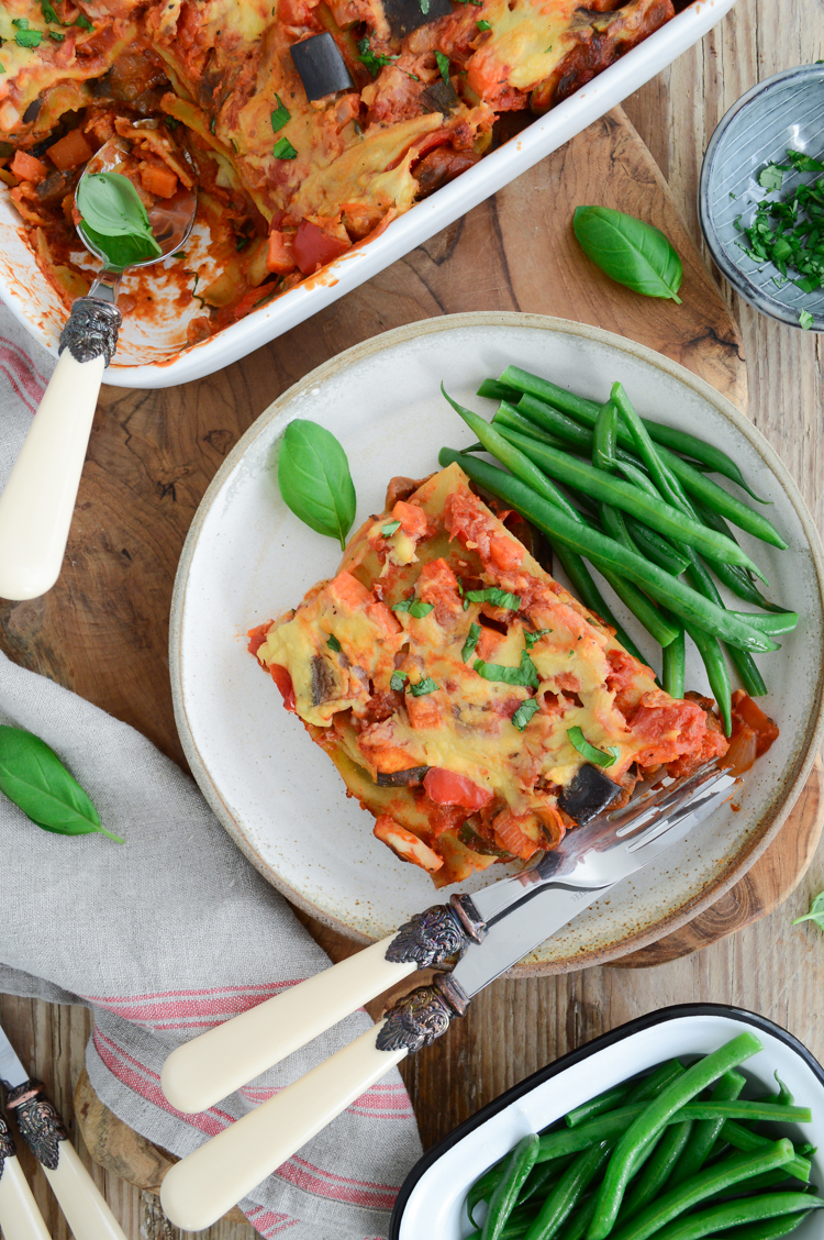 Healthy Vegan Lasagna (GF & nut free) by Fit Foodie Nutter #lasagna #veganlasagna #veganfood #glutenfree #healthychoices #cleanrecipes #cleaneating
