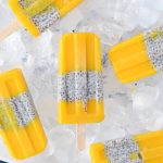 Healthy mango & chia breakfast popsicles via Fit Foodie Nutter #vegan #glutenfree #cleaneating #popsicles #icelollies
