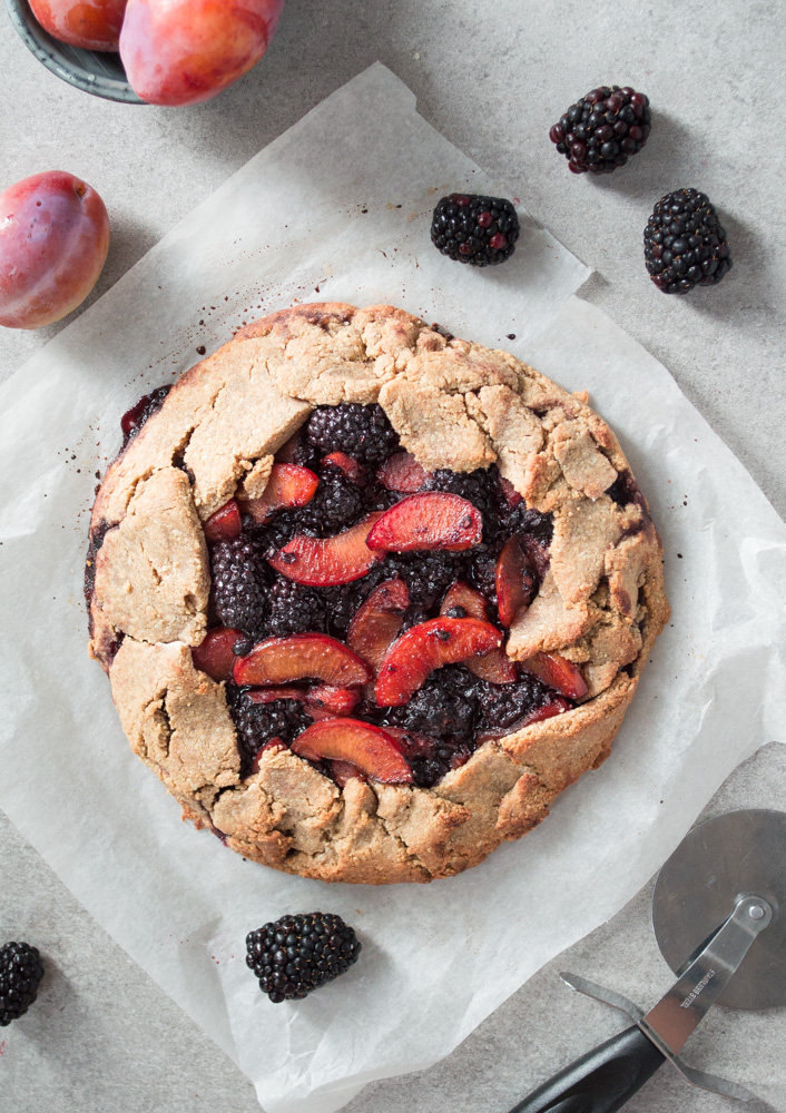 Plum & blackberry galette via Fit Foodie Nutter #vegan #sugarfree #glutenfree #galette