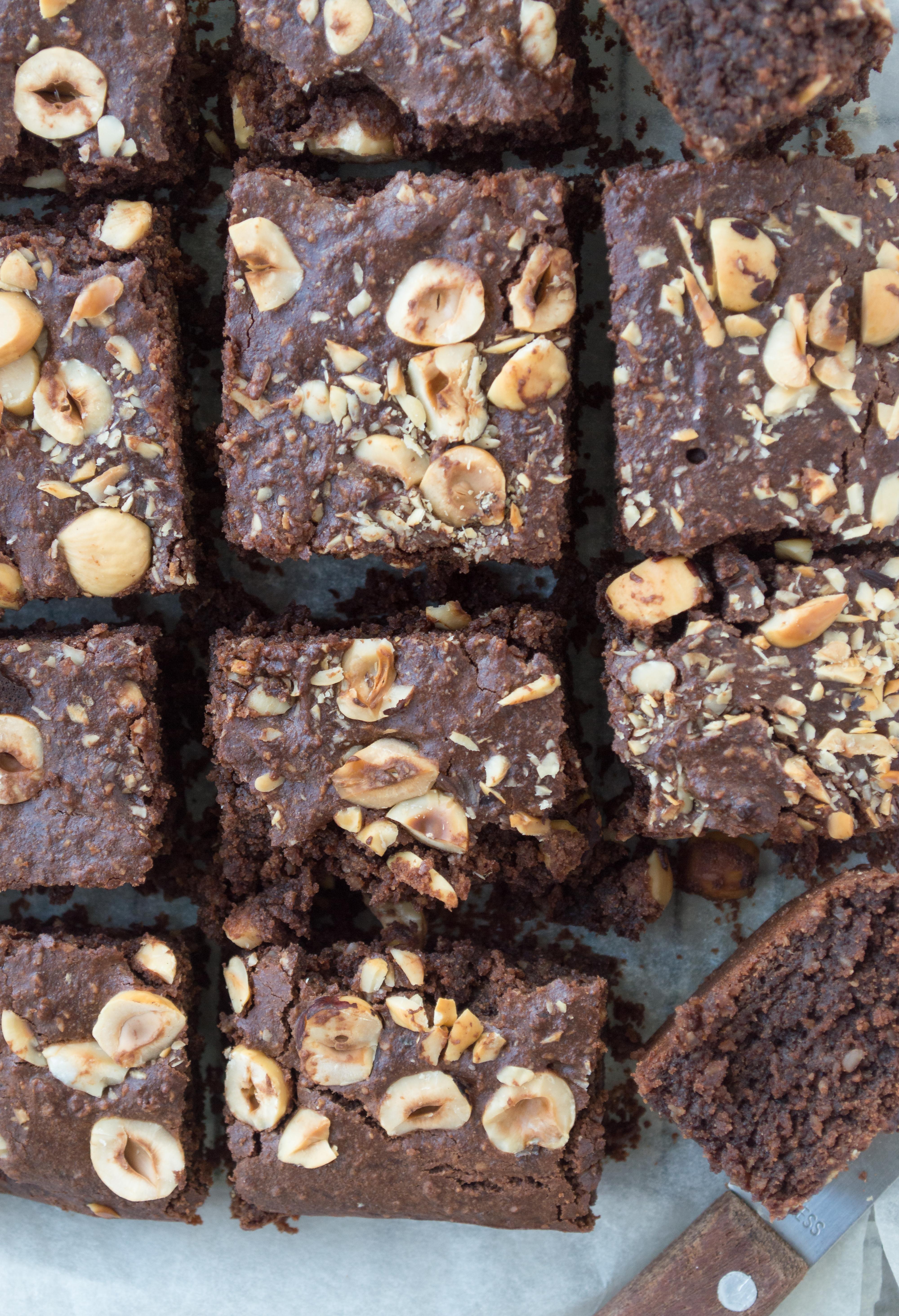 Healthy vegan chocolate brownies