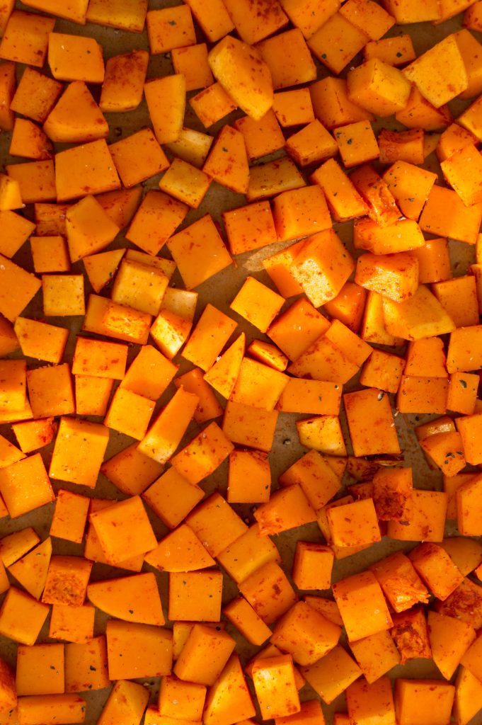 Diced roasted squash