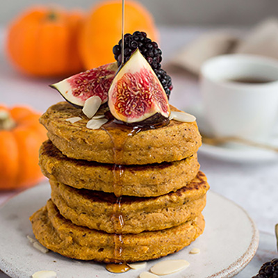 MY BEST YET BUTTERNUT SQUASH PANCAKES (VEGAN)