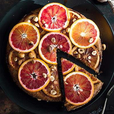 UPSIDE DOWN BLOOD ORANGE CAKE (VEGAN, GF)