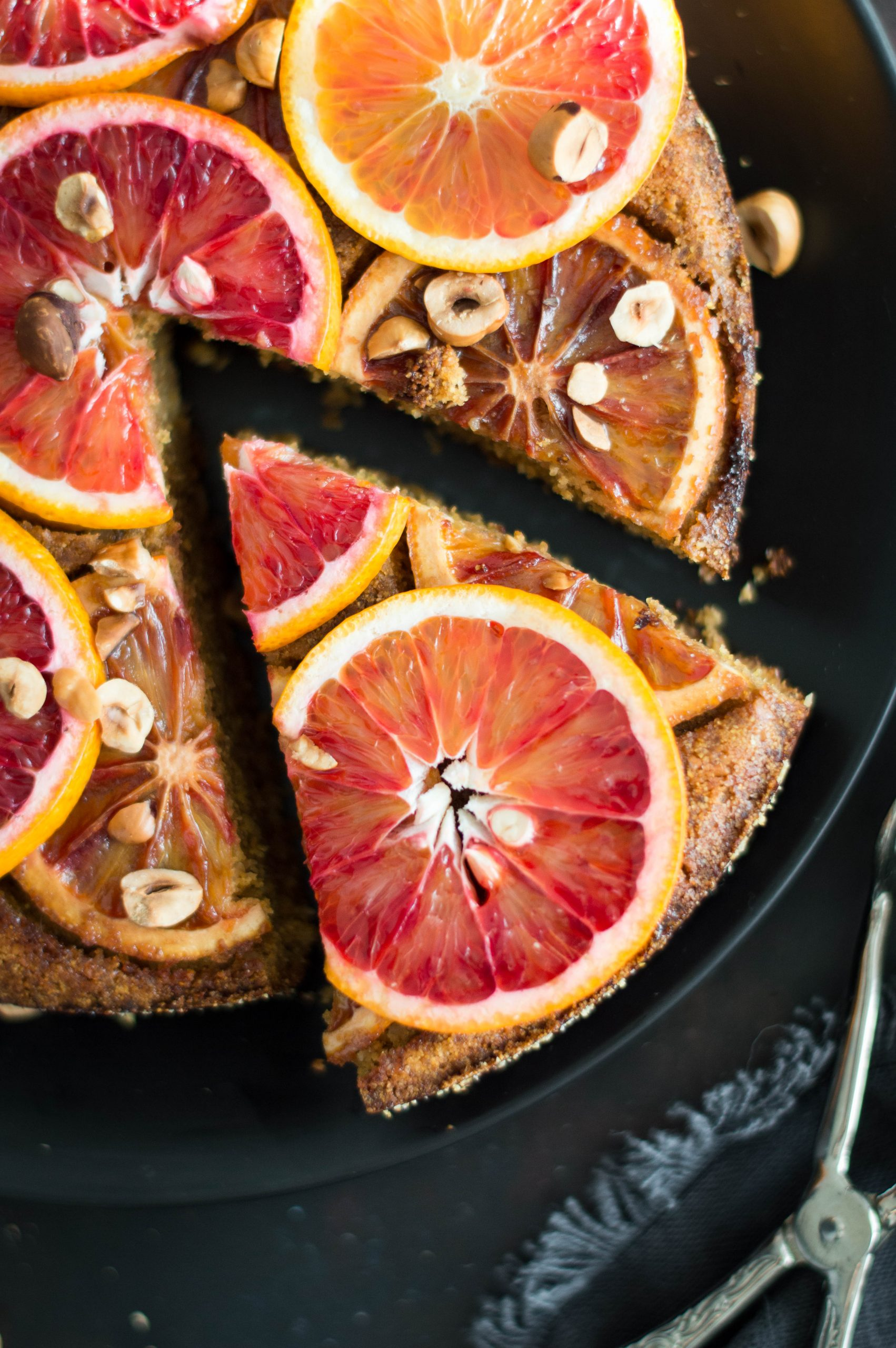 Upside down blood orange cake